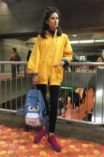 Look de métro: Nicky, 24 ans. Mannequin.