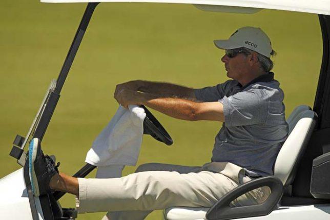 PGA Golf 2010 Champions Tour: The Cap Cana Championship Fred Couples riding in golf cart Sunday Punta Espada GC/Cap Cana,, DOM 28-MAR-2010 X83944 TK3 CREDIT: Darren Carroll